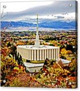 Provo Temple Oak Acrylic Print