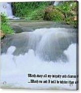 Psalm 51 2 Acrylic Print