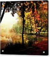Psychedelic Autumn Acrylic Print