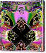 Psychedelic Blackhole Birthday Party Fractal 120 Acrylic Print
