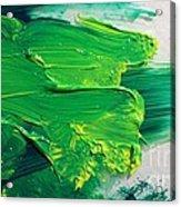 Pthalo And Cad On Glass Acrylic Print