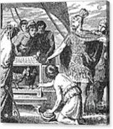 Publius Claudius Pulcher And The Sacred Acrylic Print
