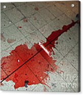 Puddle Of Red Wine On The Floor Acrylic Print