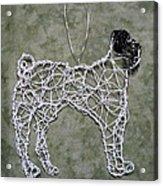Pug Acrylic Print by Charlene White