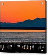 Puget Sound Sunset Acrylic Print by Sarai Rachel