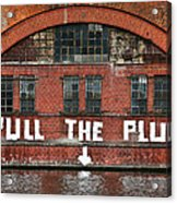 Pull The Plug Acrylic Print by Aurica Voss