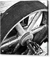 Pulley Wheel From Industrial Sawmill Acrylic Print