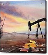 Pumping For Gold Acrylic Print