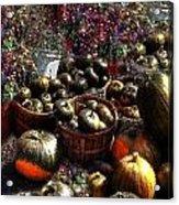 Pumpkin Impressions Acrylic Print