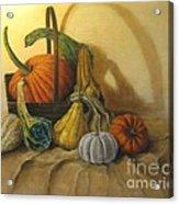 Pumpkin In A Basket Acrylic Print
