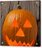 Pumpkin With Wicked Smile Acrylic Print