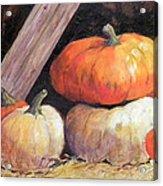 Pumpkins In Barn Acrylic Print