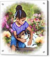 Puppy Love Acrylic Print by Dawn Serkin