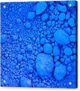 Pure Cobalt Powder Acrylic Print by G Fletcher