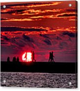 Pure Michigan Sunset Acrylic Print