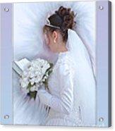 Pure Spotless Bride Acrylic Print