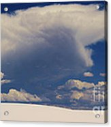 Pure White Sand And Mountain Storms Acrylic Print