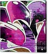Purple Abstract Graffiti Detail Acrylic Print