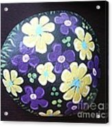 Purple And Yellow Flowers Acrylic Print