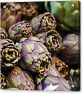Purple Artichokes At The Market Acrylic Print