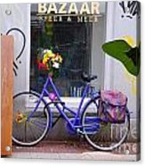 Purple Bike Acrylic Print