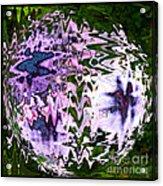 Purple Daisies World - Abstract Art Acrylic Print