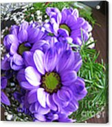 Purple Flowers In The Bubble Acrylic Print