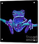 Purple Ghost Frog Acrylic Print