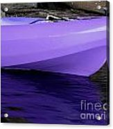 Purple Kayak Acrylic Print