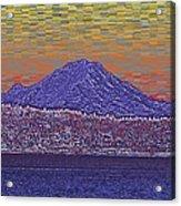 Purple Mountain Majesty Sunset Acrylic Print