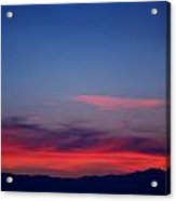 Purple Mountains Acrylic Print by Kevin Bone