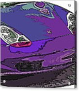 Purple Porsche Nose 2 Acrylic Print by Samuel Sheats