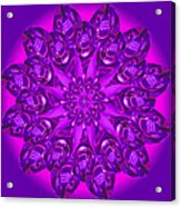 Purple Spoonz Acrylic Print by Linda Pope
