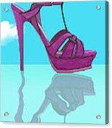 Purple Stilt Stilettos Reflections Acrylic Print