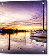 Purple Sunrise Acrylic Print by Vicki Jauron
