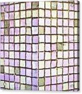 Purple Tiles Acrylic Print