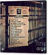Put A Quarter In The Jukebox Acrylic Print
