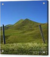 Puy De Barbier And Puy De L'angle. Auvergne. France Acrylic Print