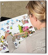 Puzzle Therapy Acrylic Print