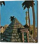 Pyramid Tomb In Cemetary Acrylic Print