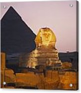 Pyramids Of Giza With The Great Sphinx Acrylic Print by Richard Nowitz