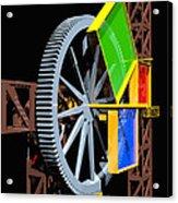 Pythagorean Machine Portrait 1 Acrylic Print