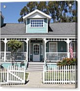 Quaint House Architecture - Benicia California - 5d18817 Acrylic Print