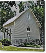 Quaker Church Pencil Acrylic Print