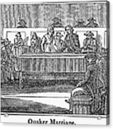 Quaker Marriage, 1842 Acrylic Print