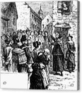 Quaker Preaching, 1657 Acrylic Print