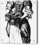 Quaker Woman, 17th Century Acrylic Print