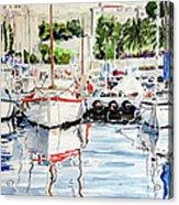 Quattro Barche Al Pennello Di Bonaria Acrylic Print