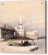 Quay At Suez Febrary 11th 1839 Acrylic Print