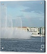 Quay In Peterburg Acrylic Print